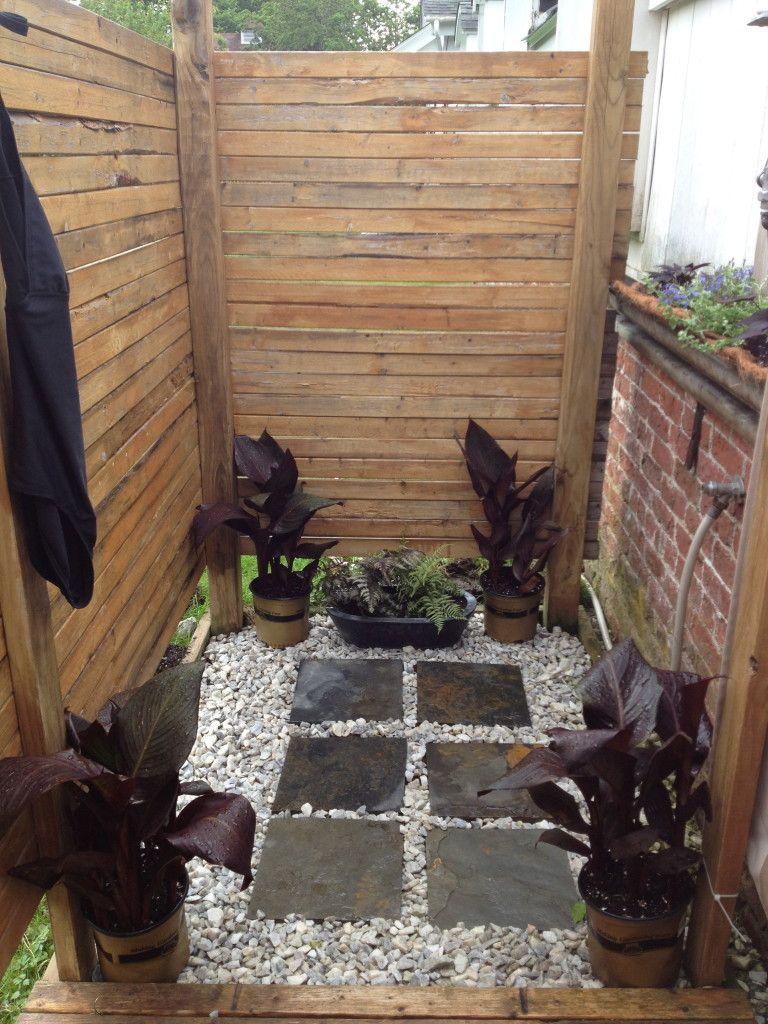 outdoor shower floor materials