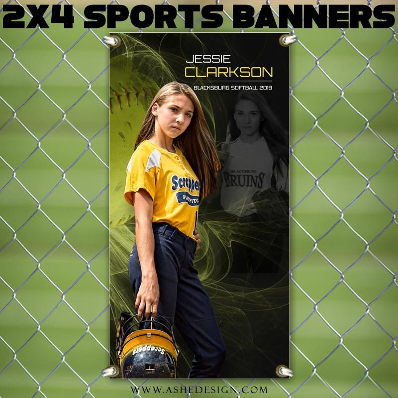 2x4 Amped Sports Banner Mystic Explosion Softball
