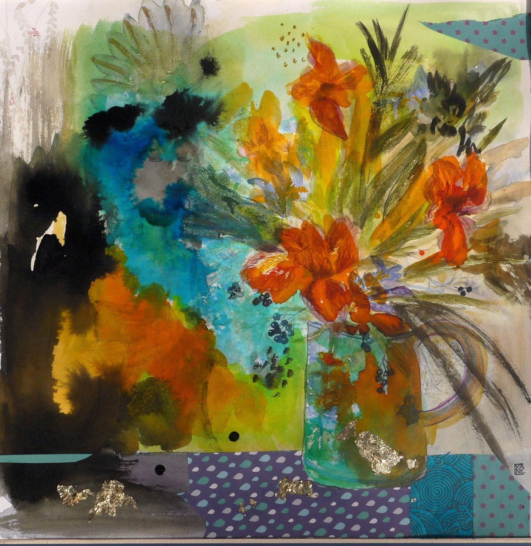 Tableau art contemporain original semi abstrait d coration peinture moderne a - Tableau original contemporain ...