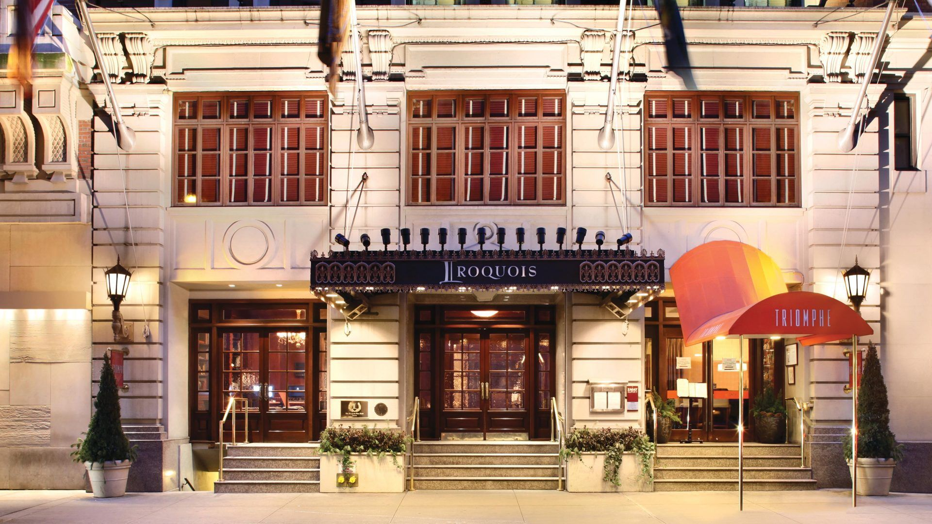 History Midtown Manhattan Boutique Hotel The Iroquois New York Hotels Iroquois Hotel Nyc Hotels