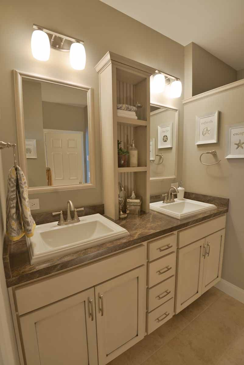 His And Her Vanity Bathroom Sinks Are A Must Have Center Shelf