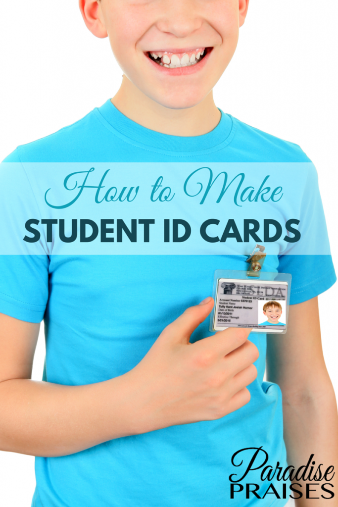 how to make student id cards free printable homeschooling