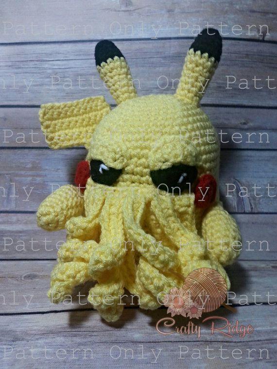 Pikathulhu Pattern by Crafty Ridge on Etsy #crochet #patterns #plush ...