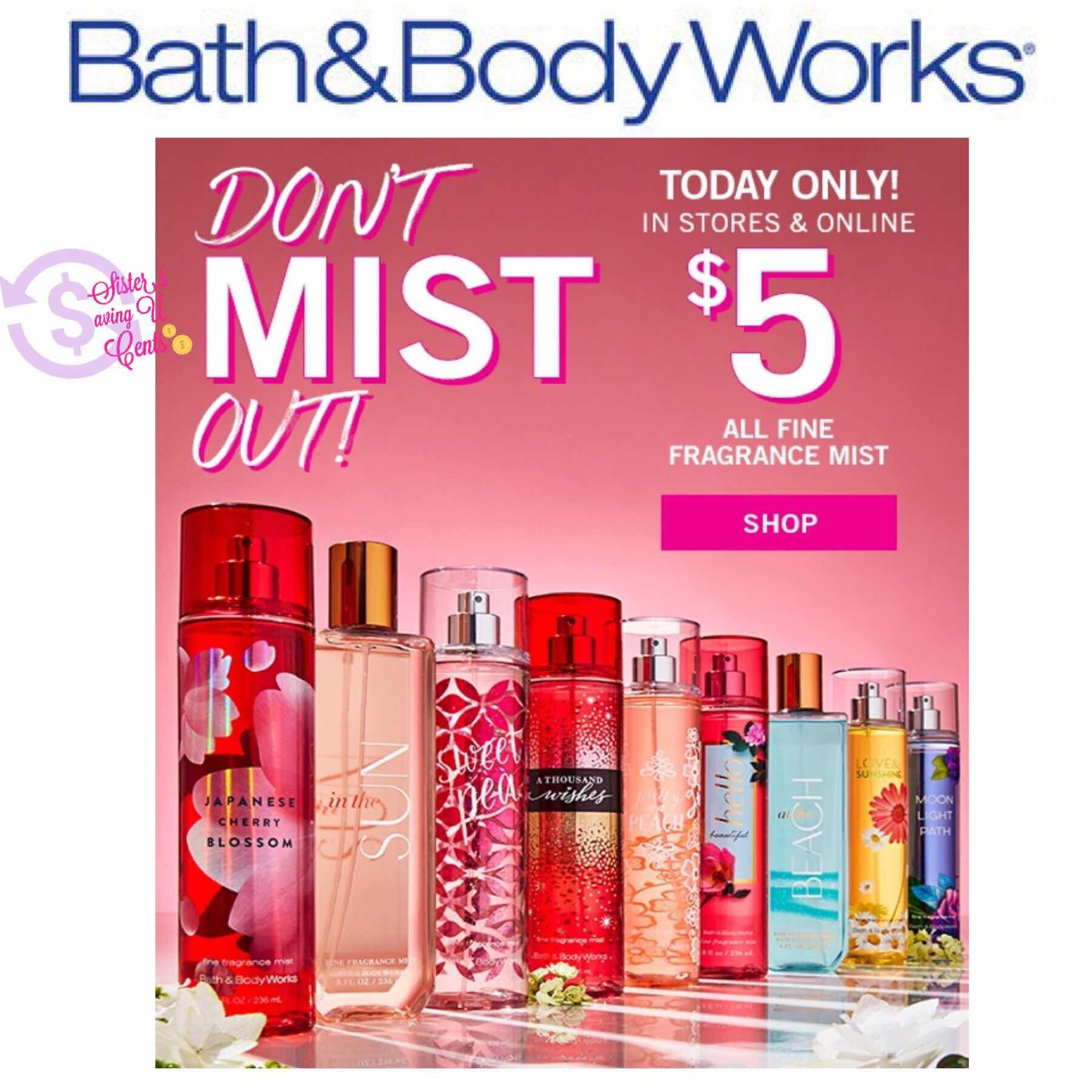 Sisterssavingucents 5 Fragrance Mist At Bath And Body Works