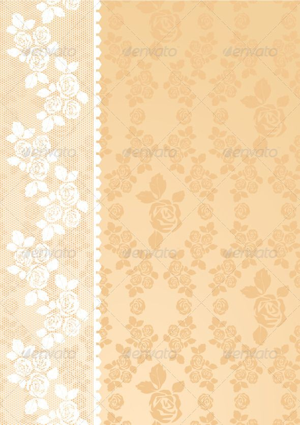 Lace is beige  #GraphicRiver         Lace is beige   • These are editable vector files.  • Available RGB & CMYK colors.  • Can be used for invitations to any of your ceremony (Wedding, Happy birthday, Invitation to a party). The menu for the cafe or restaurant.   Attached ZIP folder contains:  • EPS vector file is saved in file format EPS v. 8  • AI (Illustrator CS4)  • PSD (layered)  • PDF  • JPG image has high resolution 3533×5000 pixels Can be used for invitations to any of your…