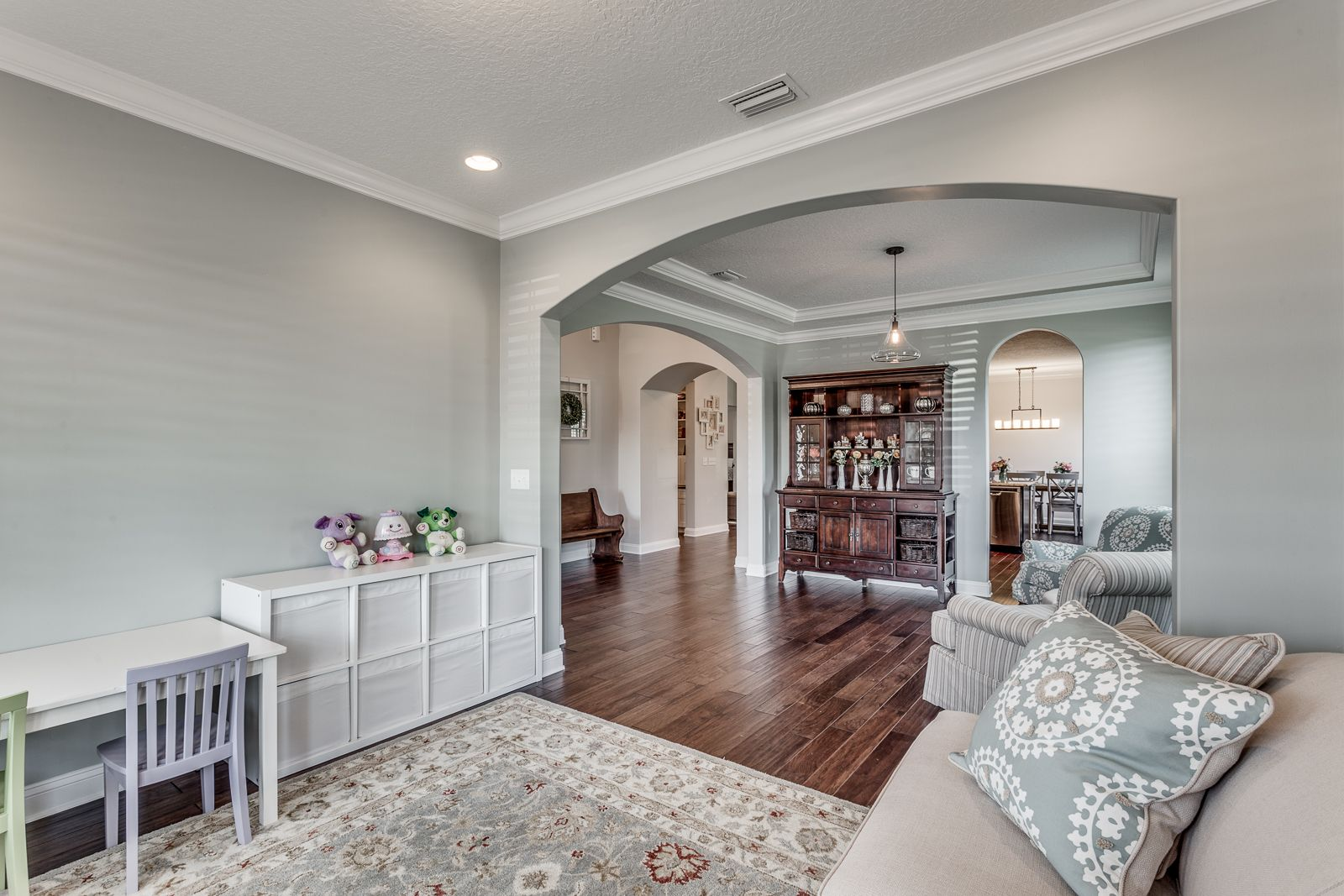 Front sitting room sherwin williams comfort gray paint - Sherwin williams comfort gray living room ...
