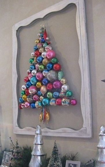 weihnachtsbaum aus kugeln bastelideen weihnachten. Black Bedroom Furniture Sets. Home Design Ideas
