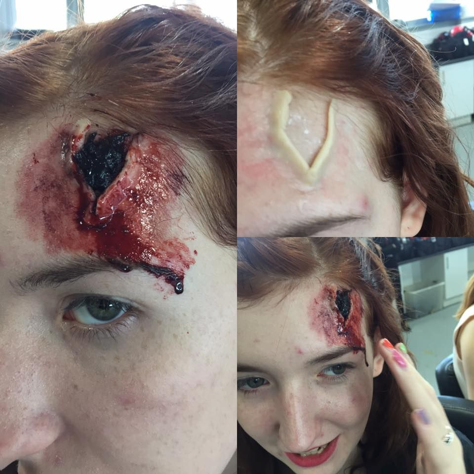 open wound special effect makeup Wound makeup