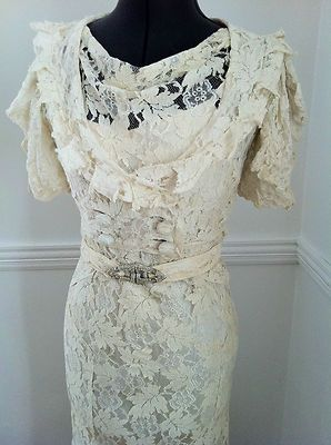 1930's Lace Dress w/Jacket -Jacket Front