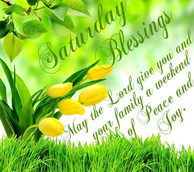 saturday blessings may the lord give you and your family a weekend of peace and joy