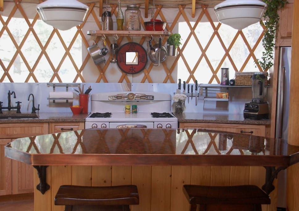 Full Kitchen With Penny Counter Top Island  Yurts  Pinterest Amazing 20 20 Program Kitchen Design Design Inspiration