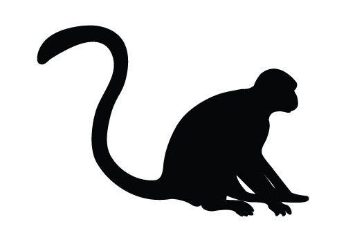 Monkey Vector Graphics Free Download Monkey Silhouette Silhouette Clip Art Animal Stencil Silhouette Illustration