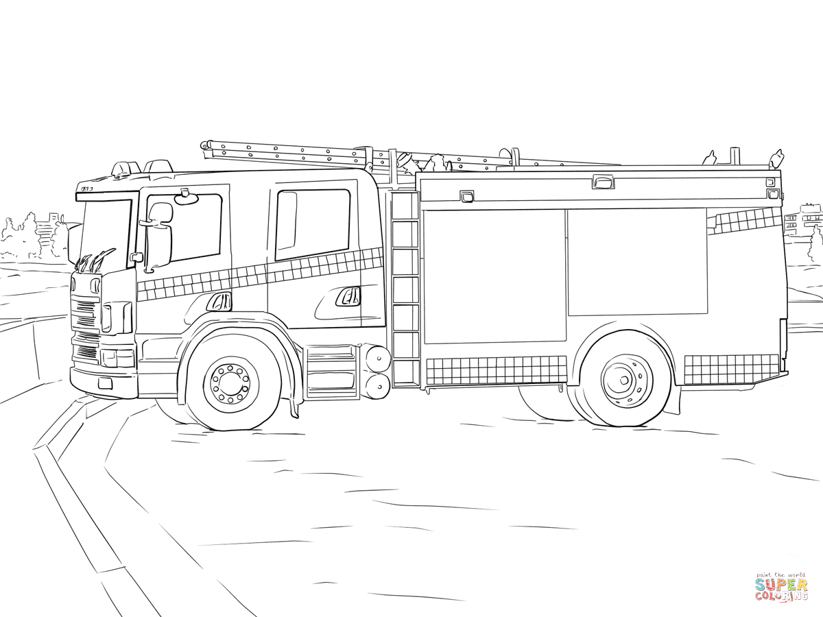 httpss media cache ak0pinimgcomoriginalsb7 - Fire Truck Coloring Page