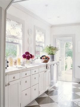 Love This Kitchen And The Painted Wood Floors