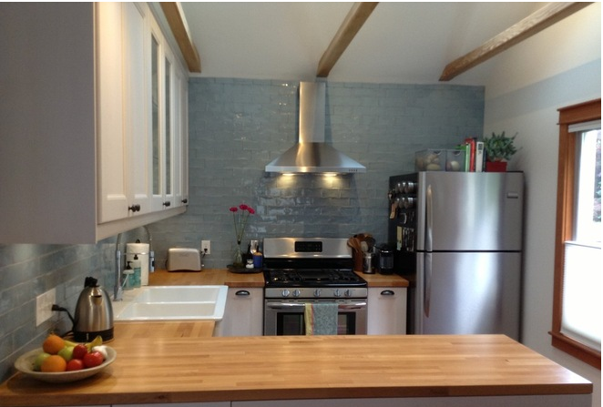 The 100 Square Foot Kitchen A Former Bedroom Gets Cooking
