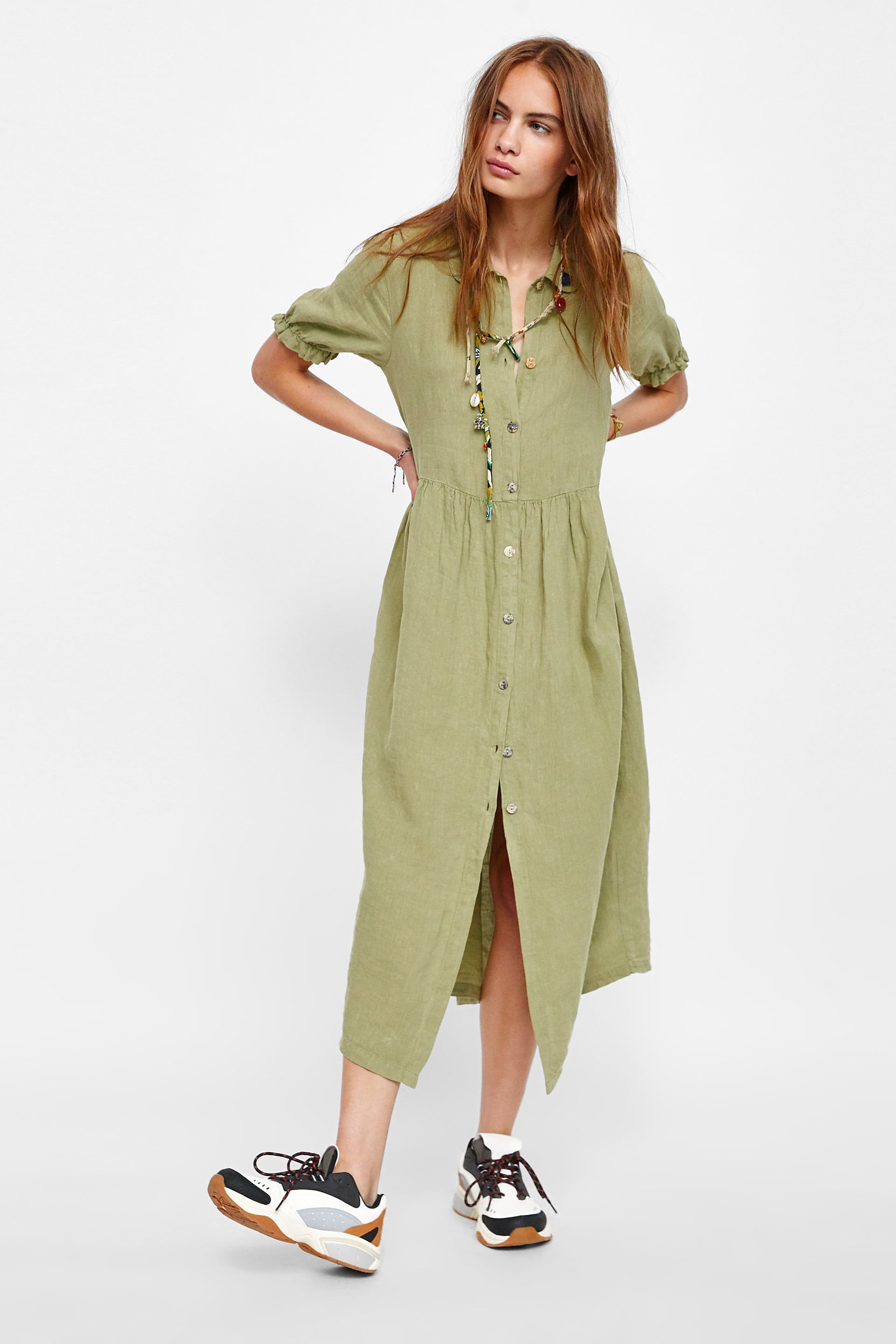 682fb701 Image 1 of LINEN DRESS from Zara | Things to Wear | Marito