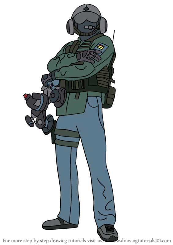 How To Draw Jager From Rainbow Six Siege Jager Drawings Rainbow