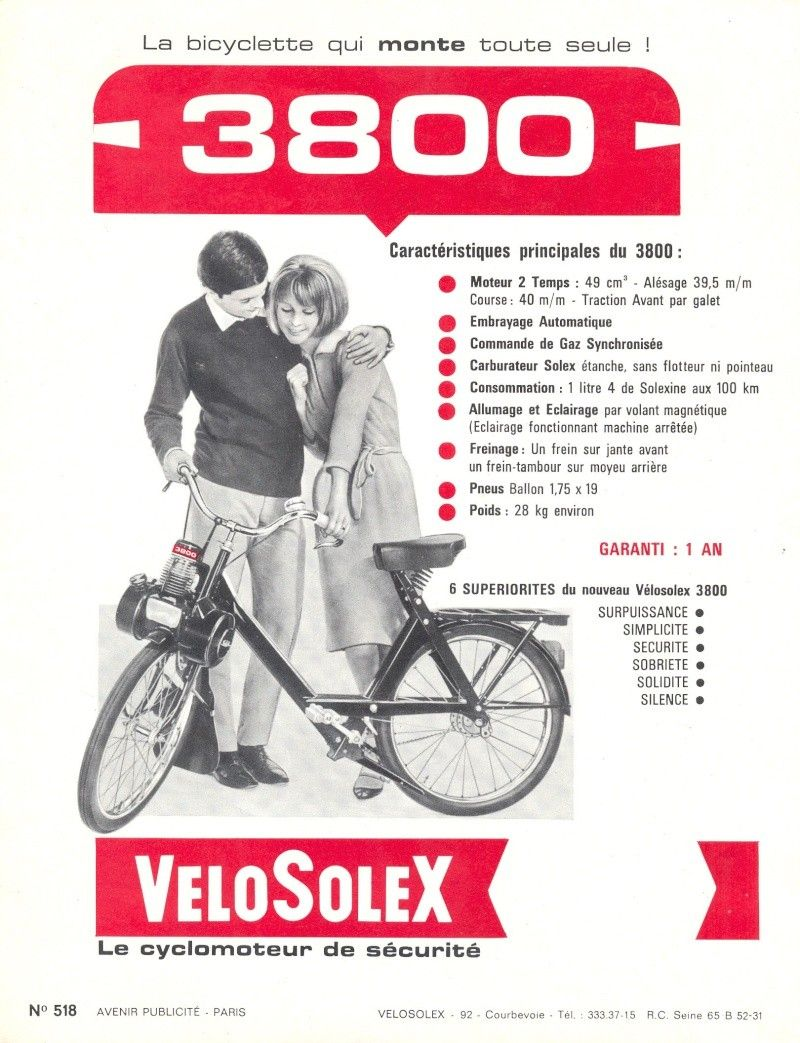 solex 3800 consommation