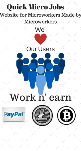 Quick Micro Jobs  https://www.quickmicrojobs.com/