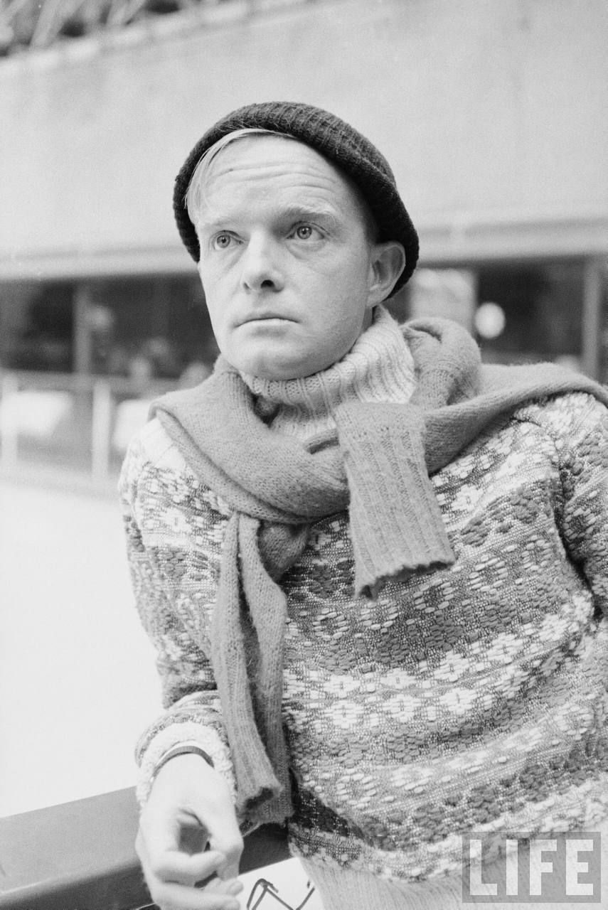 Truman Capote skating at Rockefeller Center - Photo by Alfred Eisenstaedt 1959