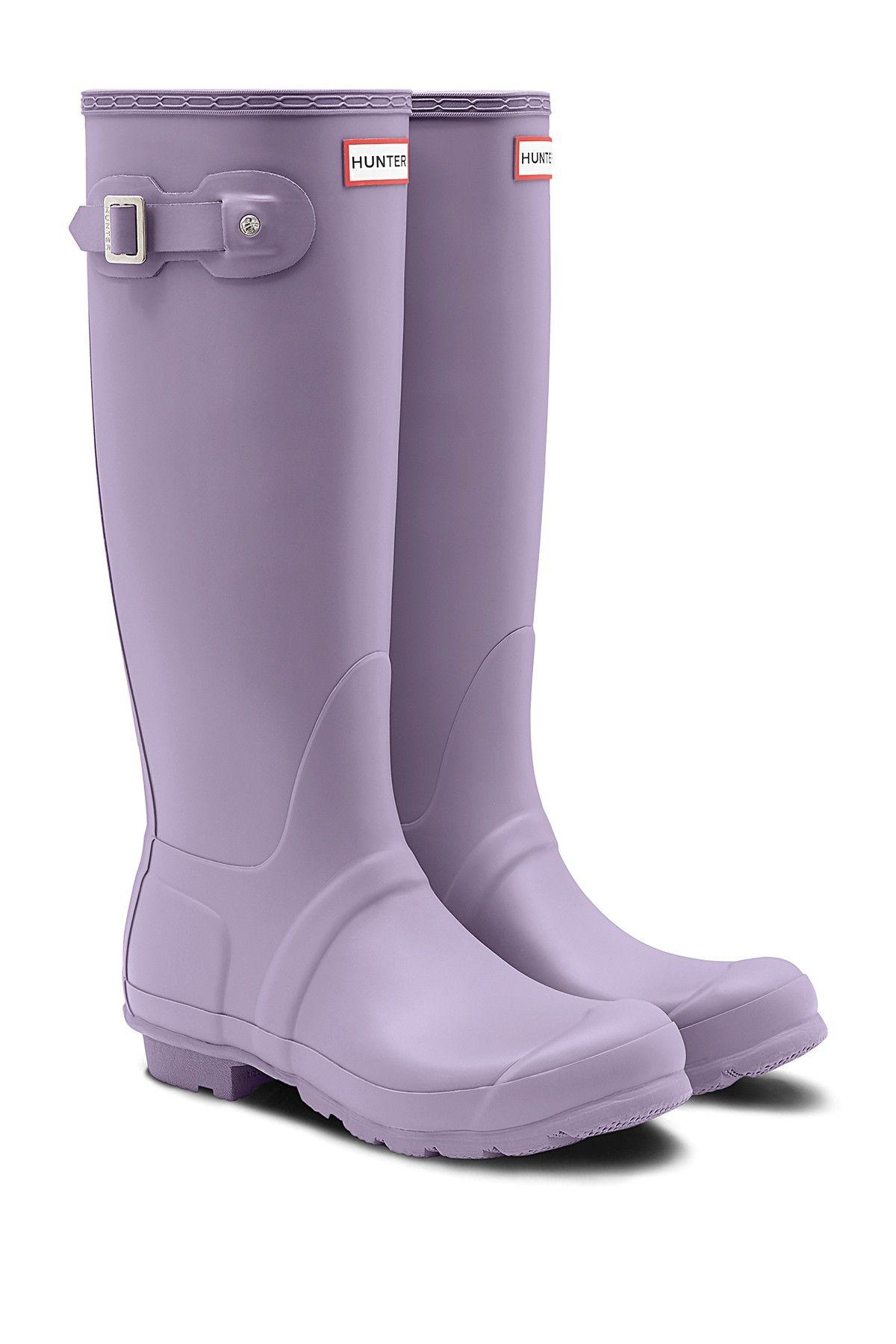 Hunter Original Tall Waterproof Rain Boot Hunter Boots Outfit