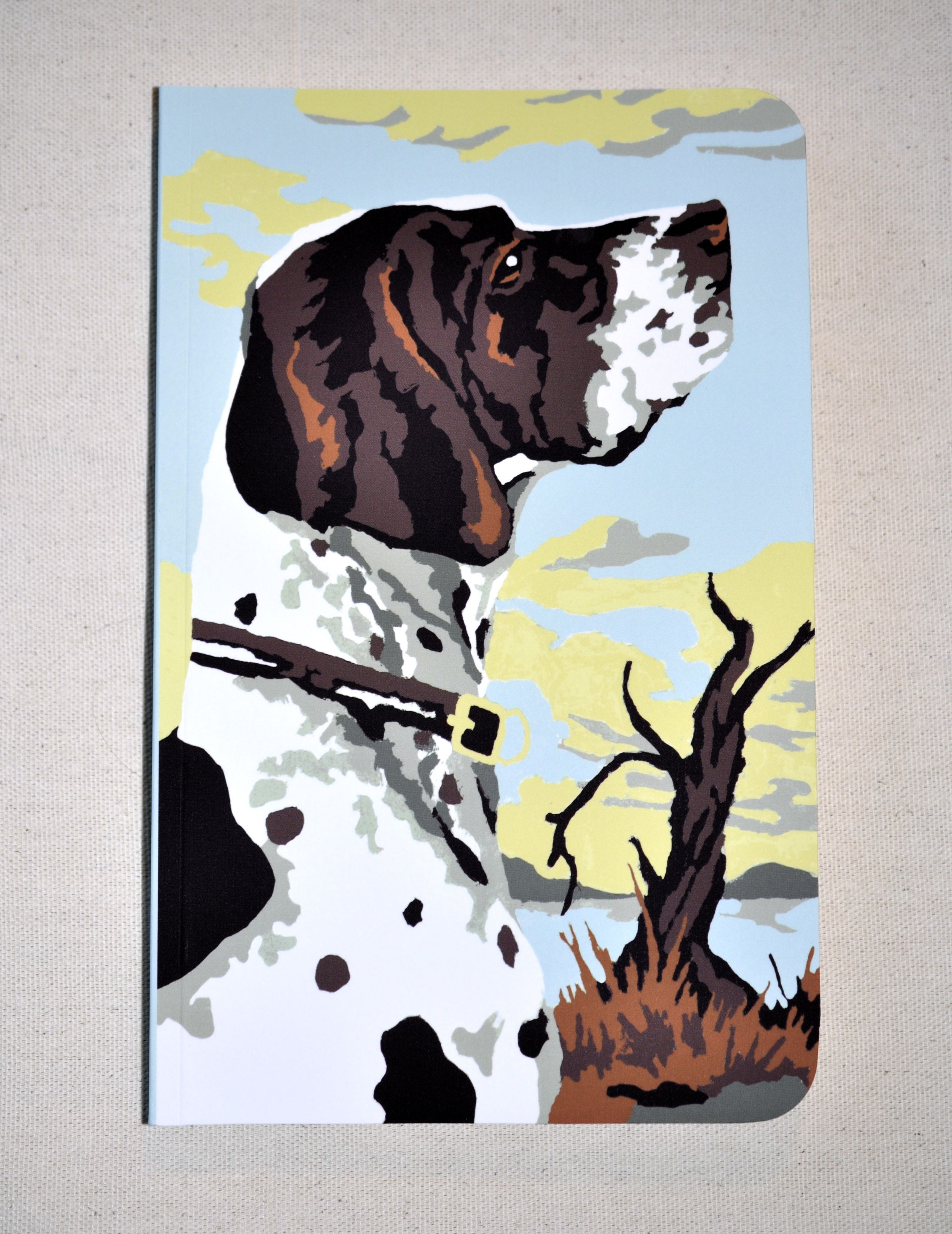 Good Boy Super Cute Vintage Paint By Number Hunting Dog Journal