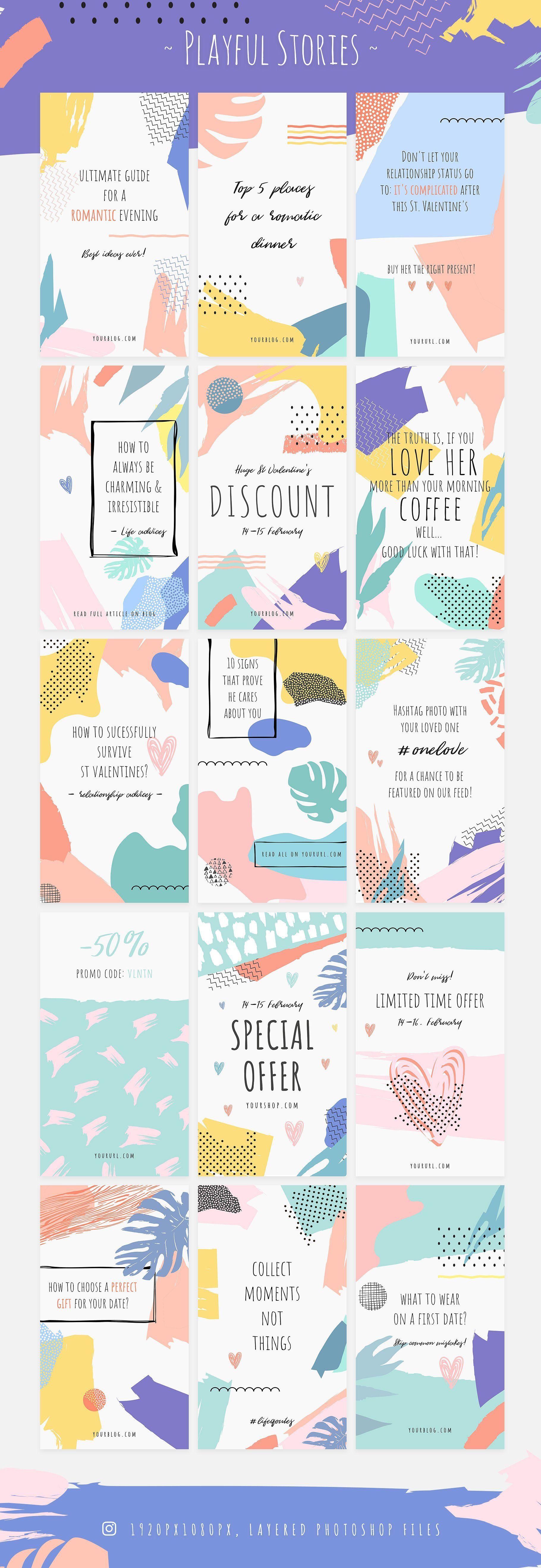 PLAYFUL Instagram Story Designs (Dengan gambar) Kartu