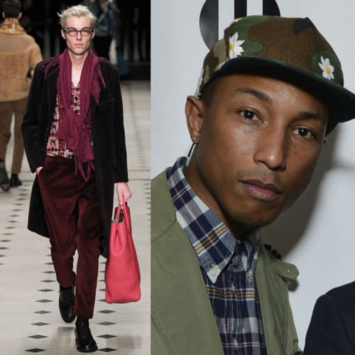 Pharrell in Burberry Prorsum Fall 2015 #DSNPredicts #DSNGrammys