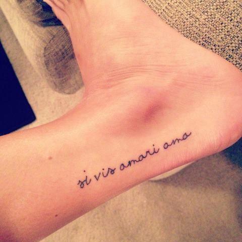 Love yourself in latin tattoo