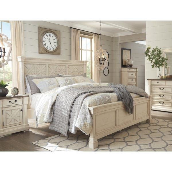 Best Bolanburg Antique White Panel Bed White Casual 400 x 300