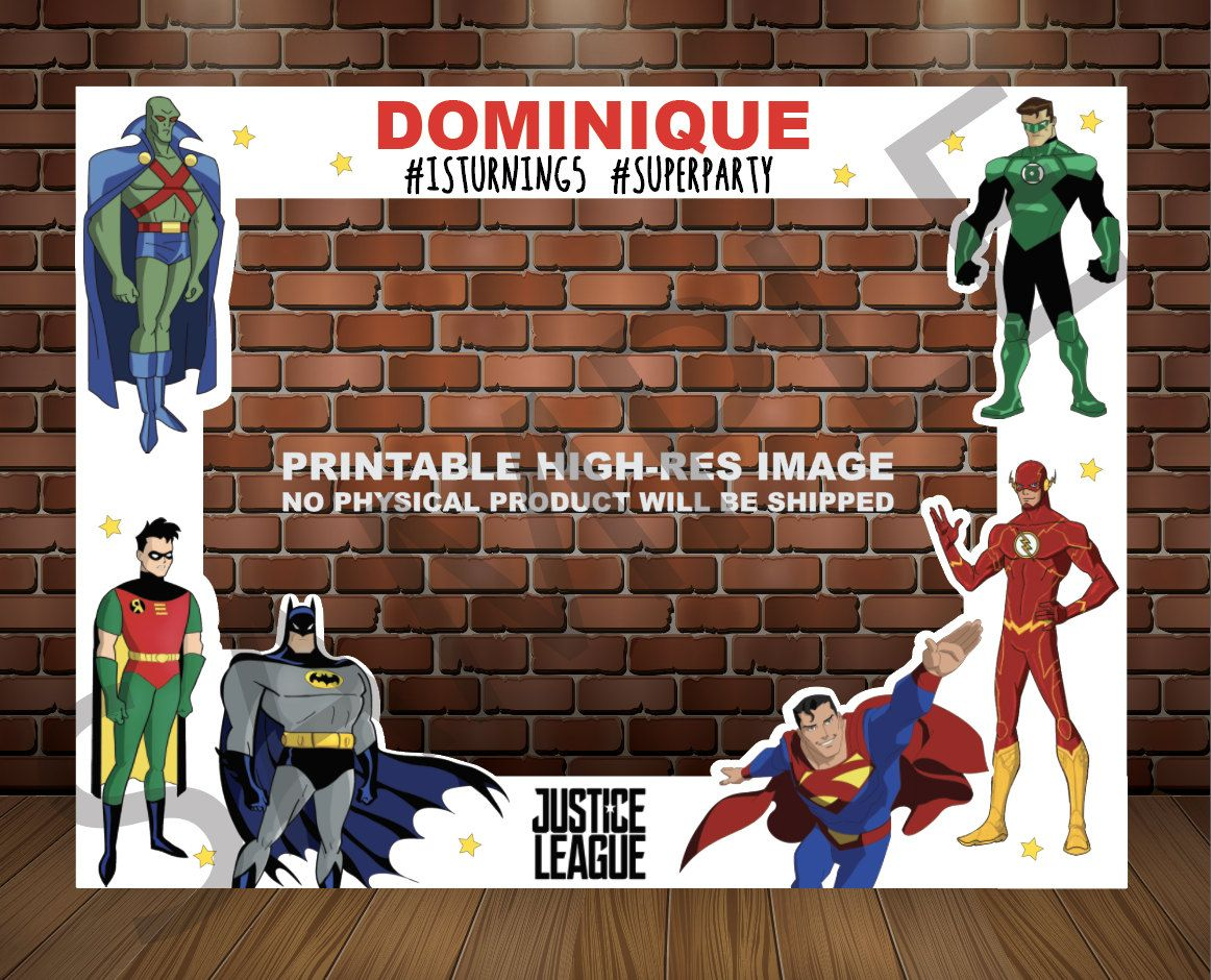 DC 6 Justice League 3d frame super batman wonder woman flash save the world