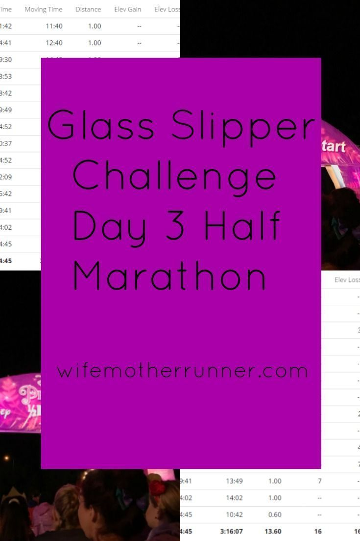 The last day of the Glass Slipper Challenge weekends ends with the half marathon.  I took the time t...