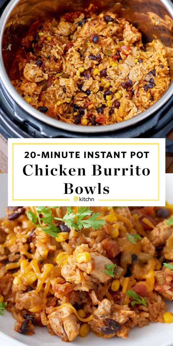 Recipe: Instant Pot Weeknight Chicken and Rice Burrito Bowls -   19 healthy instant pot recipes chicken burrito bowl ideas