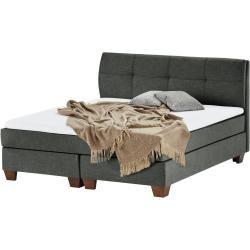 Boxspringbett - grau - 185 cm - 121,5 cm - Betten > Doppelbetten Möbel Kraft #idéesdemeubles
