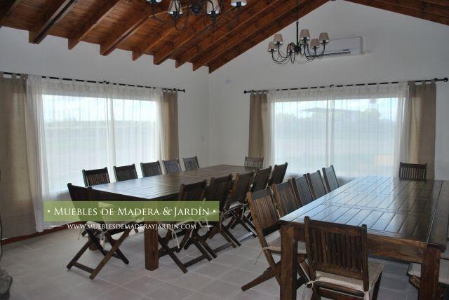 Conjunto de mesas y sillas para quinchos mesas for Sillas para quincho