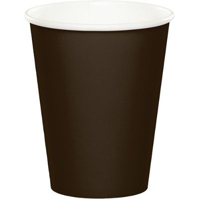 TOC Chocolate Brown 9-oz Paper Cups Bulk 563038B | Touch of