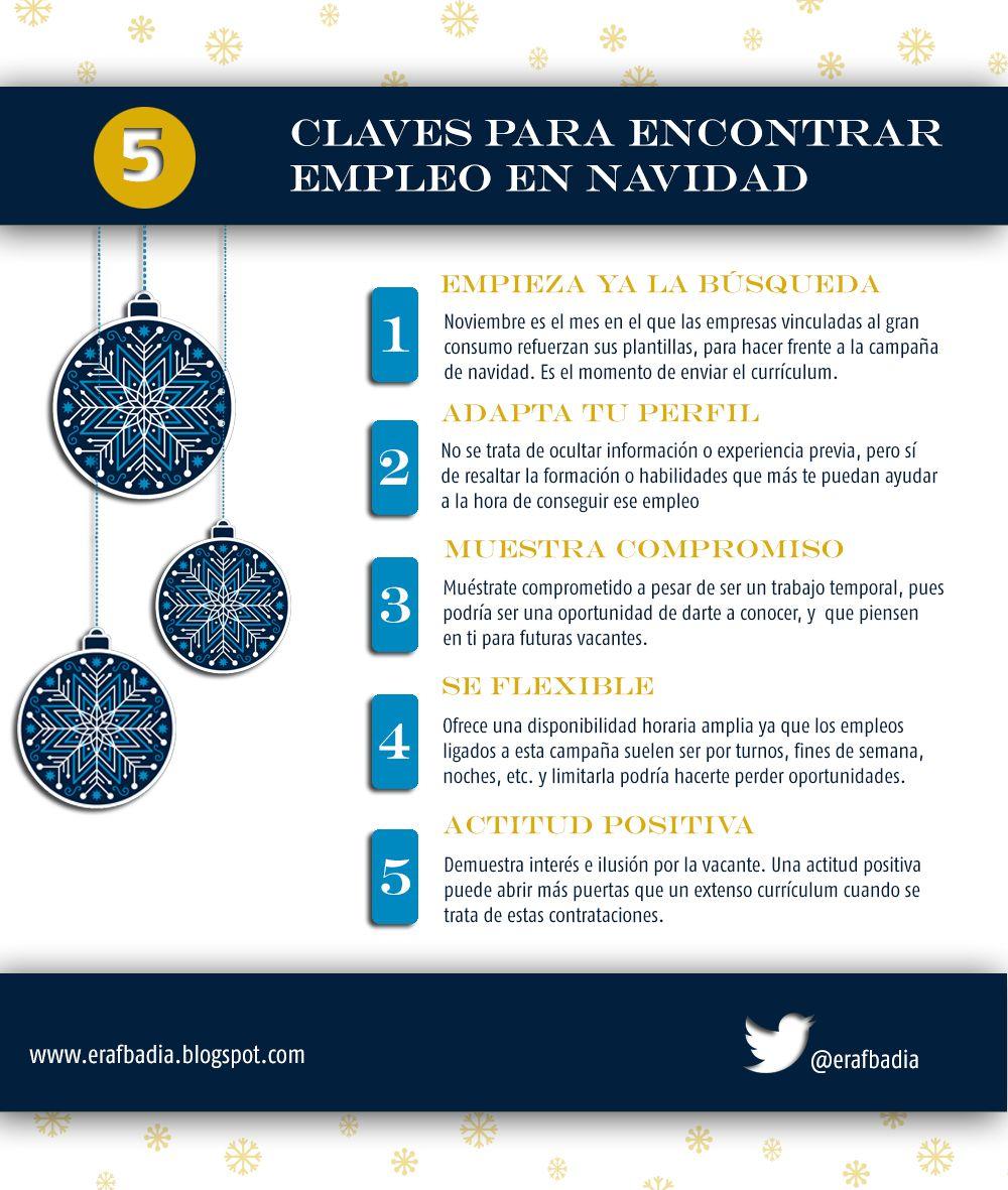 5-claves-para-encontrar- empleo-en-Navidad | Mercado Laboral | Pinterest