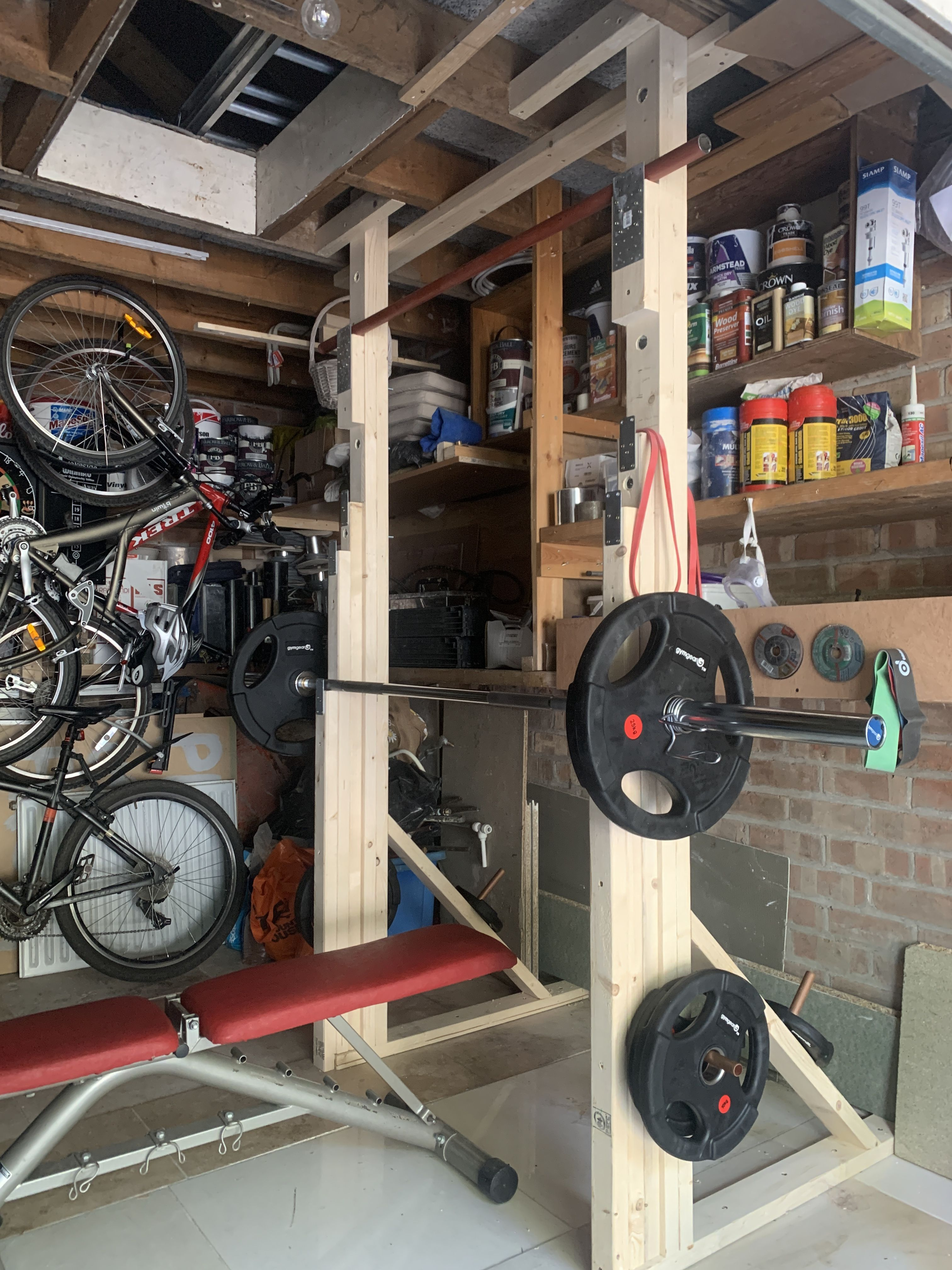 Home made wooden squat rack in 2020 Squat rack, Squats