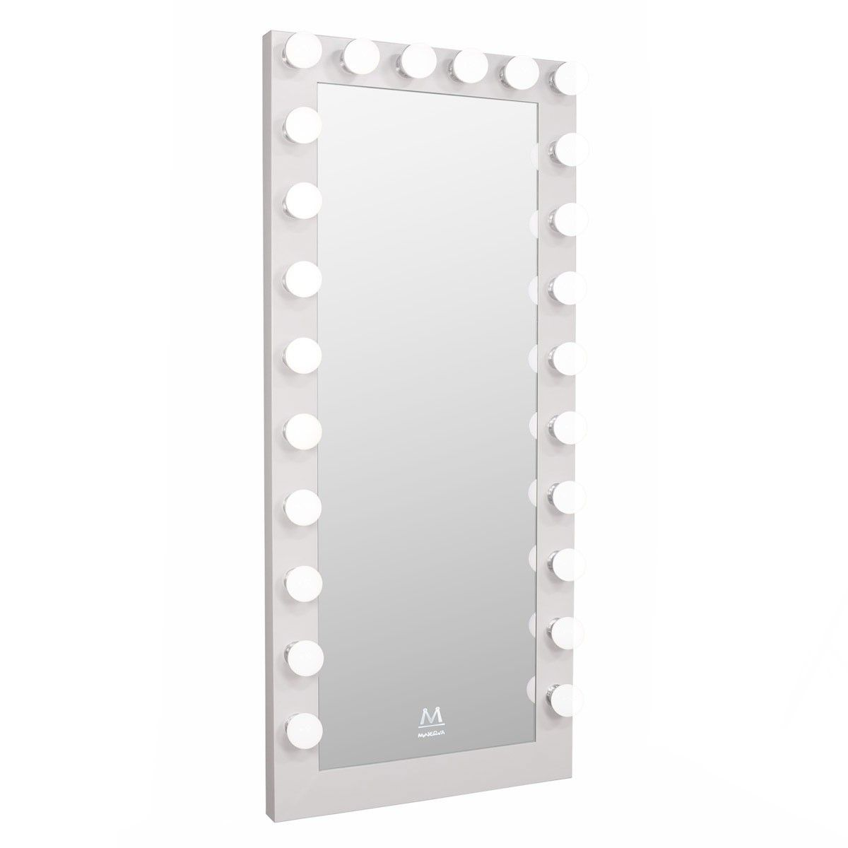 Paramount Full Length Hollywood Makeup Led Vanity Mirror In White