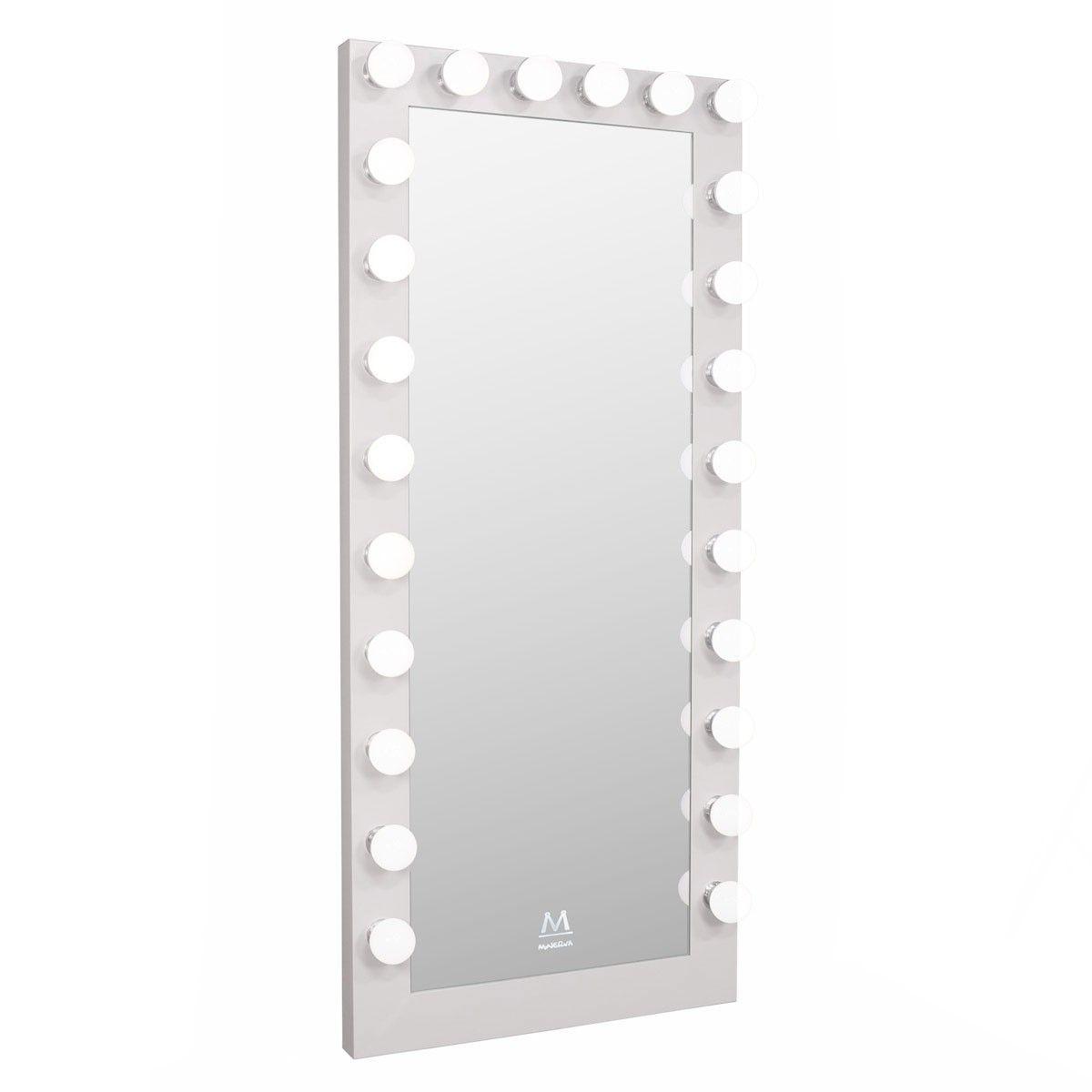 Paramount Full Length Hollywood Makeup Led Vanity Mirror In White Vanity Mirror Led Vanity Vanity
