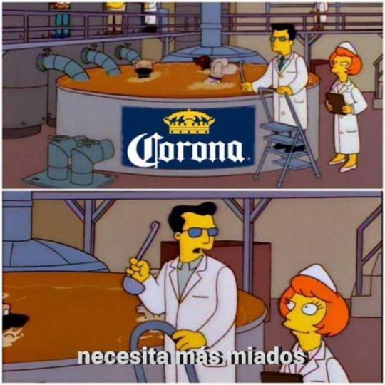 Miados Cerveza Corona Memes Miados Simpsons