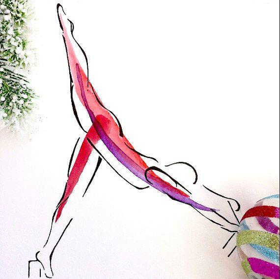 Arabesque on the Reformer | Pilates Art Print, Pilates Gift ...