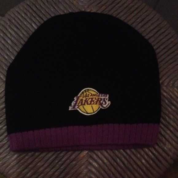 LAKERS NEVER WORN BEANIE  LAKERS NEVER WORN BEANIE Los Angeles Lakers Accessories Hats