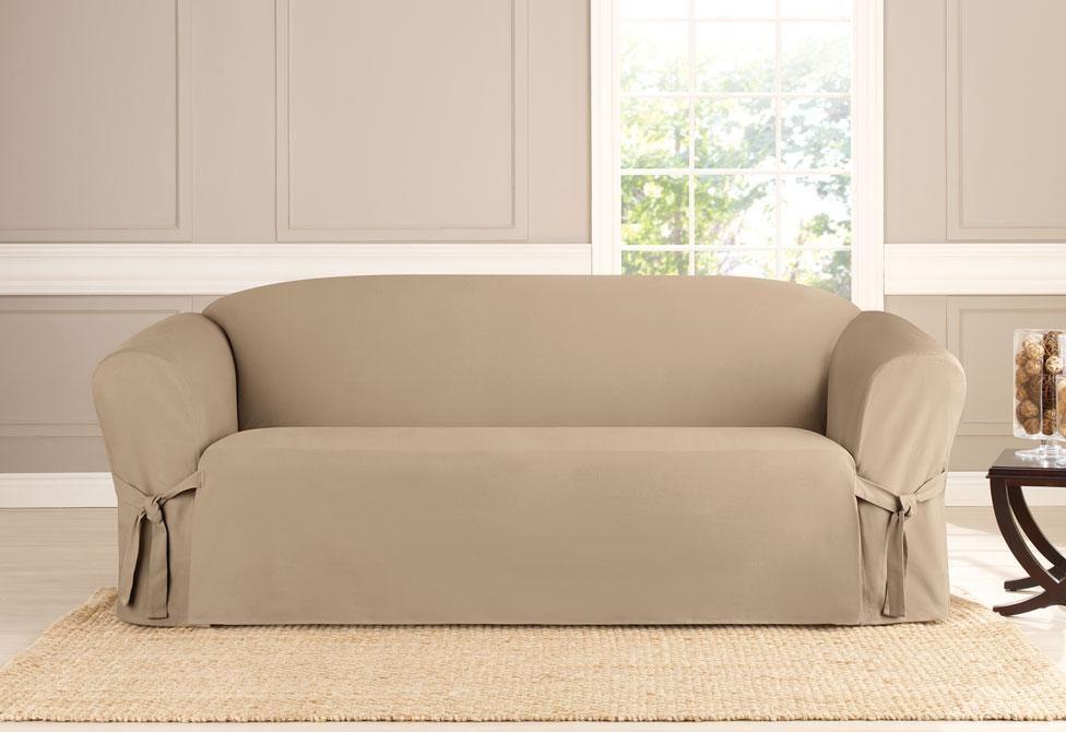 Fine Heavyweight Cotton Duck One Piece Sofa Slipcover In 2019 Ibusinesslaw Wood Chair Design Ideas Ibusinesslaworg