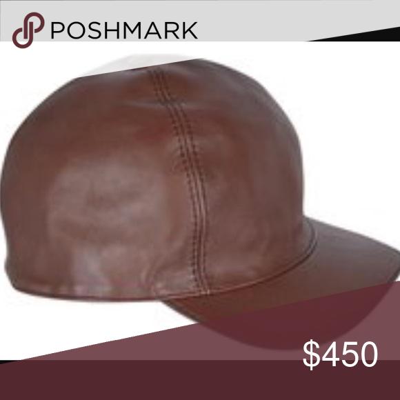 ... Gucci Leather Baseball Cap 100% Authentic brown leather Gucci Hat.  NAPPA Charlotte New Oak ... ceeba833f018