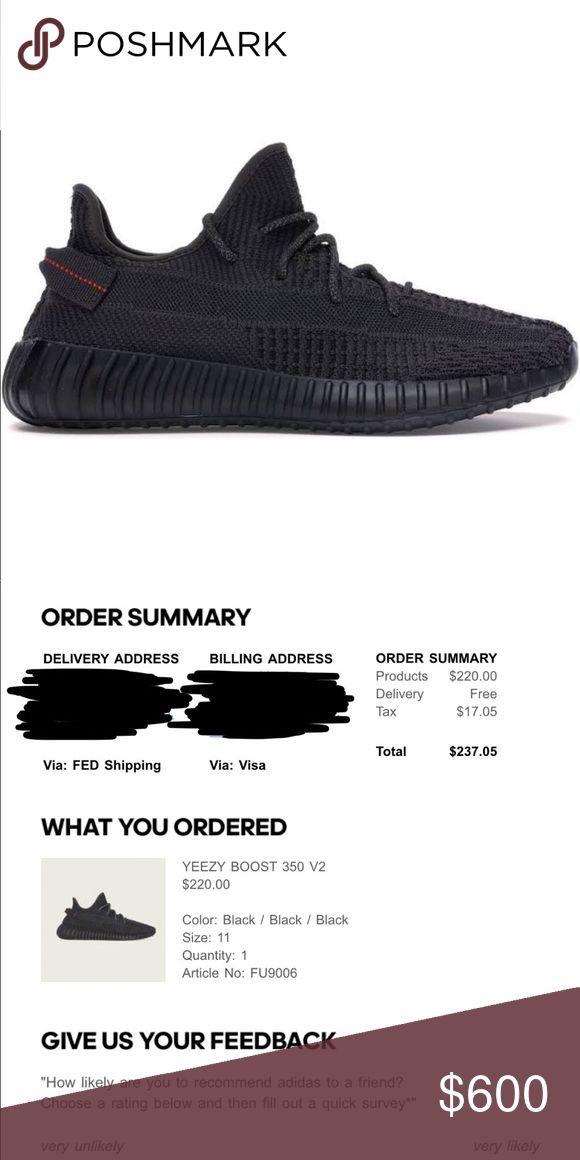 adidas yeezy 350 boost original schwarz