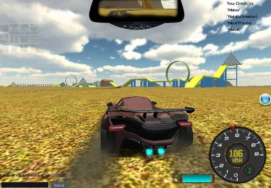 This 3D racing game lets you drive Ferraris,