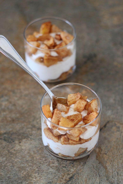 apple pear breakfast parfaits & healthy breakfast ideas