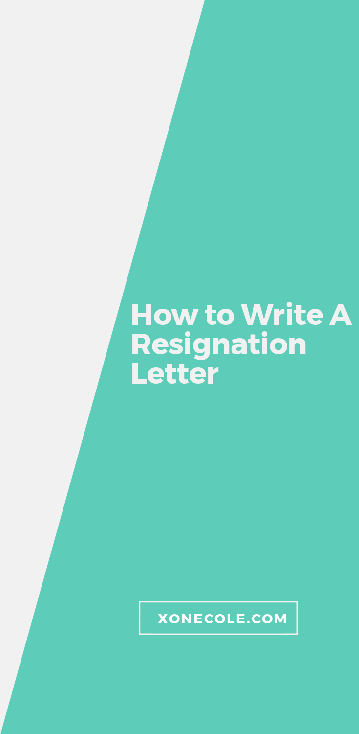 resignation letter for a job you hate