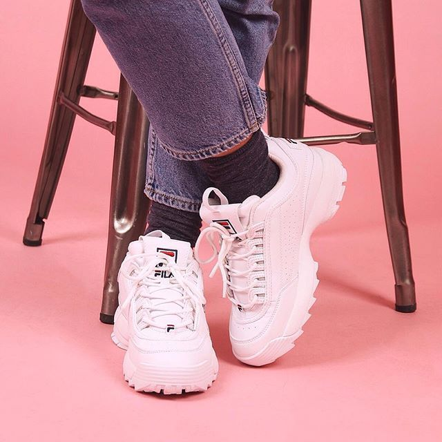 FILA Disruptor II Autumn Pink Shoes in 2020 | Cute womens